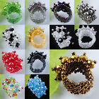 Free shipping Crystal Beads Stretch Finger Ring US 6~10 SBJ004