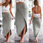 Women Summer Lace Top Asymmetrical Long Maxi Evening Party  Dresses Sundress New