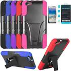 Phone Case For Straight Talk Raven H892L Rugged Cover Stand Tempered Class Guard