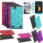 Phone Case For ZTE Lever LTE Rugged Cover Crystal Tempered Class Screen