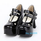 #8366B Sweet Gothic Punk KERA LOLITA shoes DOLLY Punk platform shoes 9.5cm heels