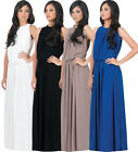 NEW Womens Elegant Versatile Sleeveless Key Hole Back Maxi Dress XS S M L XL 2X