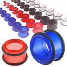 Pair Acrylic tunnels O-ring ear gauges stretched earring 9COD-SELECT COLOR&SIZE