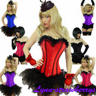 Sexy Lace up Boned Trim Corset TUTU/Skirt Fancy Dress Outfit Party Costume