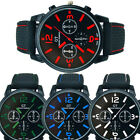 Fashion Men's Black Stainless Steel Luxury Sport Analog Quartz Wrist Watch