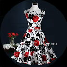 Bridesmaid Wedding Party Prom Pinup Swing Floral Women Dress USA