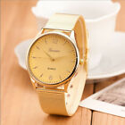 Luxury Gold Stainless Steel Alloy Women's Quartz Analog Casual Dress Wrist Watch