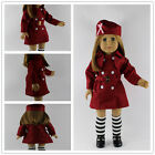 Handmade fashion red suit clothes dress for 18inch American girl doll party b101