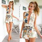 Sexy Women V-neck Floral Backless Jumpsuit Romper Playsuit Trousers Clubwear 0BZ