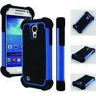 Rugged Hybrid Impact Silicone Matte Hard Case Cover For Samsung Galaxy S4 MINI
