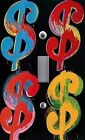Light Switch Plate & Outlet Covers ANDY WARHOL COLORFUL DOLLAR SIGNS MONEY