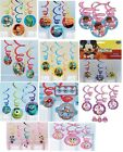 6 HANGING SWIRLS (PARTY DECORATIONS) Variety of Disney Themes {Amscan}