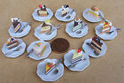 1:12 Dolls House Miniature Hand Made Cake Slice On Plate Kitchen Shop Accessory
