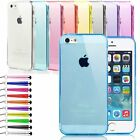 ULTRA THIN SILICONE GEL CASE COVER FOR IPHONE 6 6S FREE SCREEN PROTECTOR