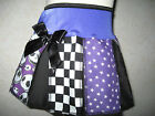 New Girls Black white Purple stars B4 Xmas tartan check pleated skirt party gift