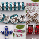 Wholesale 50/100Pcs Czech Crystal Rhinestone Glass Round Loose Spacer Beads 8mm