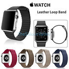 Replacement Genuine Leather Loop Watch Strap Band for Apple Watch 38mm/42mm