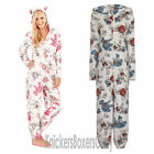 Ladies Teddy Bear Hooded Onesie & Ears All In One Womens Loungewear Size 8 - 22