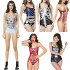 Chic Womens Sexy Bikini S Bodysuit Digital Printing Stretch Swimsuit AU4 JR