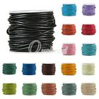 10m/Roll Real Round Leather Cord Wire Thong Jewellery Making String 1/1.5/2/3mm