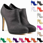 Ladies Fashion Platform High Heels Womens Casual Ankle Boots Shoes Size US 4-11