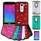 Phone Case For LG Risio LTE / LG Tribute Duo Cover Dual-Layered Crystal Film