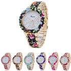 New Fashion Floral Flower GENEVA Watch BEAUTY BRACELET Women Quartz Dress Watch