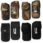 Durable Holster Case Pouch w/Metal Belt Clip for All LARGE SmartPhone Black/Camo