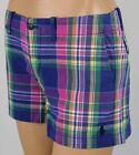 Ralph Lauren Sport Blue Pink Green Plaid Shorts Navy POLO Pony NWT