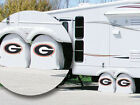 "Georgia Bulldogs ""G"" Logo Exact Fit White Vinyl Tire Shade Cover by HBS Covers"