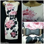 NEW PHASE EIGHT CARRERA ROSE DRESS FLORAL SHIFT PENCIL BLACK CREAM PINK 8 - 20