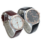 Men's Leather Strap Automatic Mechanical Wrist Watch Sport Cystal Calendar