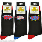 Male Relation Humorous Novelty Socks Dad Daddy Grandad My Hero