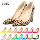 Womens High Heels Adora Gladiator Multi Metal Rivets Studded Wedges Pumps Shoes