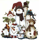 Christmas Winter Folk Art Snowman Select-A-Size Waterslide Ceramic Decals Ox  image