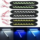 2pcs Car Soft Silicone COB LED Lights Driving Daytime Running Lamp DC12-24V