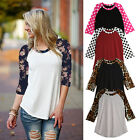 UK Size 8-14 NEW Fashion Womens Long Sleeve Casual Loose Tee Shirt Top Blouse