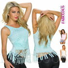 New Sexy Womens Crochet Top Shirt Singlet Blouse Casual Party Size 8 10 12 S M L