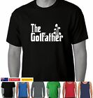 The Golf Father god father's day Dad Mens Funny T-Shirts golfather size Aussie
