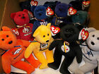 "U PICK YOUR TEAM 1 NFL Football TY Beanie baby TEDDY BEAR logo COLOR NWT 8"" Size"