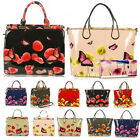Ladies Women's Fashion Designer Large Faux Leather Patent Butterfly Poppy Bag