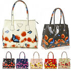 Ladies Women's Fashion Designer Celebrity Patent Butterfly Print Shoulder Bags