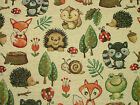 Woodland Animals Tapestry Curtain Cushion Furnishing Upholstery Quilting Fabric