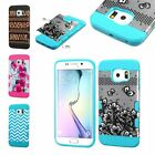 For Samsung Galaxy S6 Edge TUFF Trooper Hybrid Shockproof Dual Layer Cover Case
