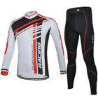 Athletics Men Cycling Jersey Set Bike Bicycle Long Sleeve Jersey 3D Padded Pants