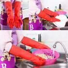 Kitchen Wash Dishes Long Gloves Rubber Cleaning Tools Waterproof Winter Warm A86