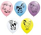 Pack of 5 FARM ANIMALS (Choice of Animal) 27.9cm Party Balloons - Qualatex