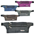 Mens / Ladies Slimline Money Belt / Bumbag / Purple, Grey, Black, Brown, Navy