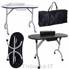 Foldable Mobile Manicure Nail Art Salon Wrist Cushion Table Bar Workstation Desk