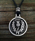 Thistle Pendant Scottish Thistle in Fine Pewter by Treasure Cast Pewter #615